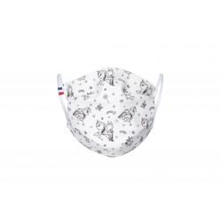 Masque barrière enfant licornes à colorier - lavable et réutilisable 50 lavages - Catégorie 1