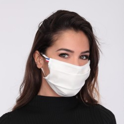 Masque barrière blanc - lavable et réutilisable 50 lavages - Adultes - Catégorie 1