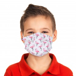 Masque barrière enfant motifs 22 - lavable et réutilisable 50 lavages - Catégorie 1