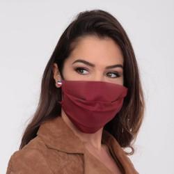 Masque barrière bordeaux - lavable et réutilisable 50 lavages - Adultes - Catégorie 1