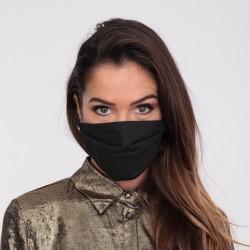Masque barrière noir - lavable et réutilisable 50 lavages - Adultes - Catégorie 1