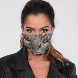 Masque Camouflage en tissu - Masque lavable et réutilisable 50 lavages - Adultes - Catégorie 1