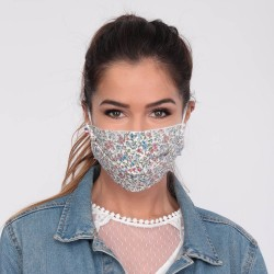 Masque barrière motifs 1 - lavable et réutilisable 50 lavages - Adultes - Catégorie 1