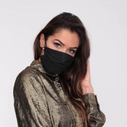 Lot de 10 masques barrières noir- lavable et réutilisable 50 lavages - Adultes - Catégorie 1