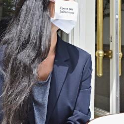 Masque barrière à message -...