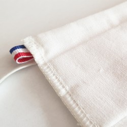 Masque barrière enfant blanc - lavable et réutilisable 50 lavages - Catégorie 1