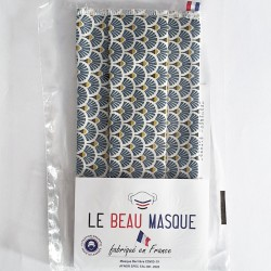 Masque barrière motifs 17 - lavable et réutilisable 50 lavages - Adultes - Catégorie 1