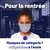 #LeSaviezVous ?   😷 A la rentrée, le port du masque est obligatoire dès l'école primaire.   ⚠ Mais attention, seulement les masques de catégorie 1 sont acceptés !!!   ⛔ Les masques faits maison ne sont plus autorisés !  ✅ Pour protéger vos enfants, Le Beau Masque propose une large gamme de #masques de catégorie 1 conçus en France avec des matériaux et accessoires de qualité recommandés par l'#AFNOR !  🚨 N'attendez plus et profitez de notre promo de l'été : placez 12 masques dans votre panier, n'en payer que 8 👉 https://www.lebeaumasque.fr/15-masques-enfants  #Masque #MasquesTissu #Rentrée2021 #ProtectionEnfants #MadeInFrance #Rentrée