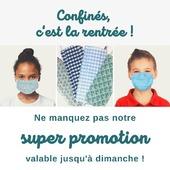 Il est l'heure de reprendre le chemin de l'école ! 📖  Pour être parés pour la réouverture des établissements, nos masques adultes et enfants sont en super promo :  1️⃣ Placez 10 masques dans votre panier  2️⃣ Appliquez le code promo RENTREE  N'EN PAYEZ QUE 6 ! 🤩 3️⃣ Et toujours, la LIVRAISON GRATUITE 🚛  www.lebeaumasque.fr  #masques #promo #superpromo #ecole #rentrée #enfants #adultes #tissu #protection