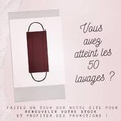 👉🏼 www.lebeaumasque.fr  Vos beaux #masques ont déjà été lavés 50 fois ? 💧 Pour une #protection optimale, pensez à renouveler votre stock pour vous, vos enfants, toute la famille !  Et bénéficiez des promotions en cours ➡️-10% sur tout le site avec le code SORTEZMASQUES ➡️ Livraison gratuite  #tissu #réutilisable #lavable #afnor #masque