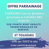 Parrainez votre entourage !  Plus vos filleuls commandent PLUS VOUS ÊTES GAGNANT !  Entrez l'email de votre filleul au passage de la commande...  ET LE TOUR EST JOUÉ !  Profitez également des -10% sur tout le site avec le code SORTEZMASQUES   C'est par ici ➡ www.lebeaumasque.fr  #masque #tissu #protection #parrainage #filtration #promo