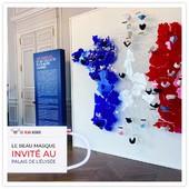 Le Beau Masque invité à l'@elysee ! 😃  C'est avec fierté que nos masques réutilisables et 100% Fabrication Française ont été sélectionnés à l'occasion de la Grande exposition du #FabriquéEnFrance. 🇫🇷  Bravo à @facon_de_faire pour cet évènement ! 👏  #masques #MadeInFrance #FabricationFrançaise