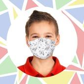 Des masques à colorier ! 🖍️  Une idée de plus pour occuper les enfants pendant les vacances, et leur donner envie de porter leur chef d'œuvre ! 🤗  🎨 Livraison gratuite 🎨 5 masques pour le prix de 4  ✏️ www.lebeaumasque.fr  #masques #enfants #vacances #parents #colorier #coloriage #tissu #protection #catégorie1 #promo