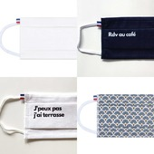 Uni, à motif ou à message, lequel porterez-vous ? Ils sont tous ici ↪️ www.lebeaumasque.fr  ❕Livraison gratuite ❕5 masques pour le prix de 4  #masques #tissu #categorie1 #protection #uni #motif #terrasse #flocage #rdvaucafe